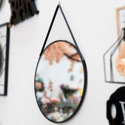 Miroir suspendu Noir 111836